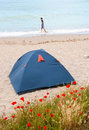Tent on the beach Stock Image