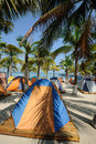 Tent at beach Royalty Free Stock Images