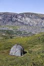 Tent camp in mountain areas of swedish lapland Royalty Free Stock Photography