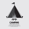 Tent And Campfire For Camping Royalty Free Stock Photo