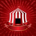 Tent circus burst Royalty Free Stock Photo