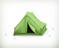Tent computer illustration on white background Stock Photo