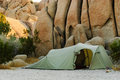 Tent desert stones Royalty Free Stock Photo