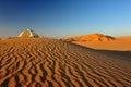 Tent on a dune the top of in rhub al khali desert Stock Photo