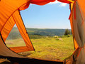 Tent in Simien National Park Royalty Free Stock Photos