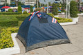 The tent of thailand s protestants close to democracy monument Royalty Free Stock Images