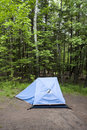 Tent in the Woods Royalty Free Stock Photography