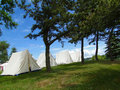 Tents in Confederate camp, Royalty Free Stock Photo