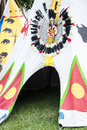 Tents indians and fun for children x jubilee festival of pipes in przemysl przemyÅ›l poland city przemysl Royalty Free Stock Image