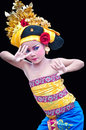 Tenundance pictures about one of the traditional arts of bali indonesia name called manuk rawa dance Stock Photos
