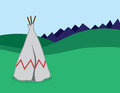 Tepee standing in outdoor landscape Royalty Free Stock Image
