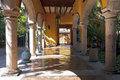 Tequila distillery entrance and courtyard mexico january at la rojena in mexico operated by jose cuervo brand it commands forty Royalty Free Stock Photography