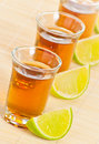 Tequila with lime Royalty Free Stock Photos