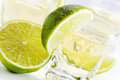 Tequila with lime . Stock Photography