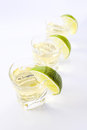 Tequila with lime . Royalty Free Stock Photography