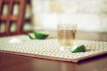 Tequila with lime and salt Royalty Free Stock Photography