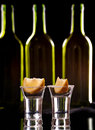 Tequila shot dark background Royalty Free Stock Photography