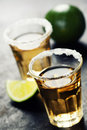 Tequila shots close up image Royalty Free Stock Image