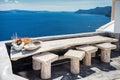 Terace view in Santorini Royalty Free Stock Photo