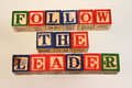 The term follow the leader Royalty Free Stock Photo