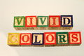 The term vivid colors Royalty Free Stock Photo