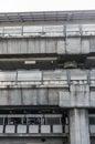 Terminal structure sky train in bangkok Royalty Free Stock Photos