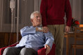 Terminally ill man at home Royalty Free Stock Photo