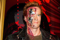 The terminator arnold schwarzenegger madame tussaud s museum london Royalty Free Stock Images