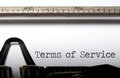 Terms of service printed on a typewriter Royalty Free Stock Photography