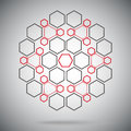 Ternary compounds in the form of a sphere red gray six vector graphics Stock Photography