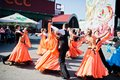 Ternopil, Ukraine - October 1, 2017: Ballroom dancing kids at Po Royalty Free Stock Photo