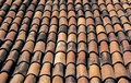 Terra cotta roofing tiles cover a building in puerto vallarta mexico Royalty Free Stock Images