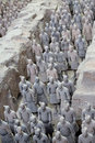 Terra cotta warriors are the eighth wonder of the world Stock Photos