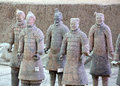 Terra cotta warriors are the eighth wonder of the world Stock Image