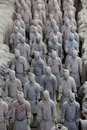 Terra cotta warriors are the eighth wonder of the world Royalty Free Stock Images