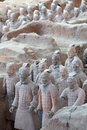 Terra cotta warriors are the eighth wonder of the world Stock Photography
