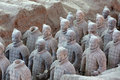 Terra cotta warriors are the eighth wonder of the world Royalty Free Stock Photos