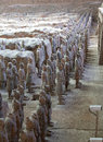 Terra cotta warriors are the eighth wonder of the world Stock Photo