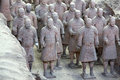 Terra cotta warriors are the eighth wonder of the world Stock Images