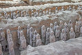 Terra cotta warriors excavation Stock Image