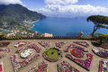 Terrace garden to the sea on amalfi coast italy Stock Image