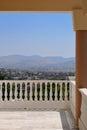 Terrace Greek churches. Royalty Free Stock Photo