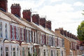 Terrace housing Cardiff Wales Royalty Free Stock Photo