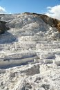 Terrace in Mammoth Hot Springs in Yellowstone NP Royalty Free Stock Photo