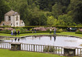 A Terrace Pond Shot in Bodnant Garden Royalty Free Stock Photo