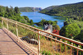 Terrace by viewpoint krka croatia Stock Images