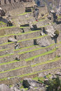 Terraced fields and guardian huts Royalty Free Stock Photos