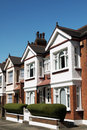 Terraced Houses in London Stock Photos