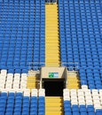 Terraced stadium seating Royalty Free Stock Photo