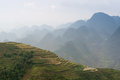 The terraces on the Van stone-plateau, Viet Nam Royalty Free Stock Photo